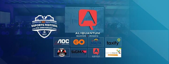 AliQuantum Gaming Sponsoring the GO Malta eSports Festival 2017