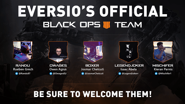 Project Eversio's New Black Ops 4 Team - 1 Week Left