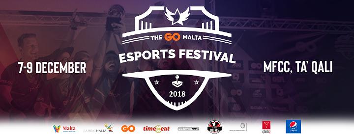 The GO Malta Esports Festival - 100 Free Tickets for BYOC Area