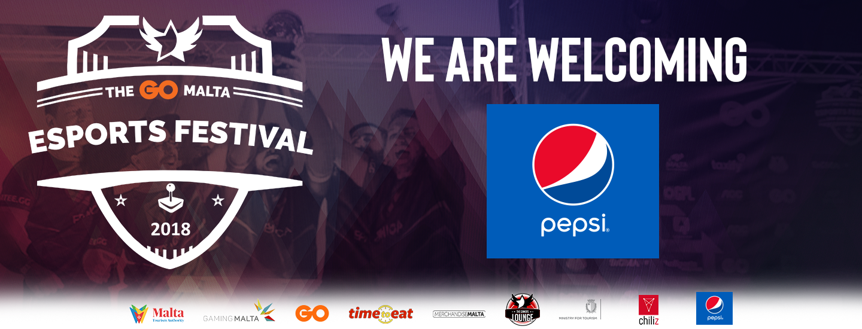 Pepsi Sponsoring The GO Malta Esports Festival 2018