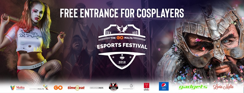 Free Entrance for Cosplayers at The GO Malta Esports Festival 2018!