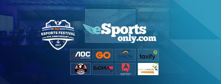 EsportsOnly.com Sponsoring The GO Malta eSports Festival 2017
