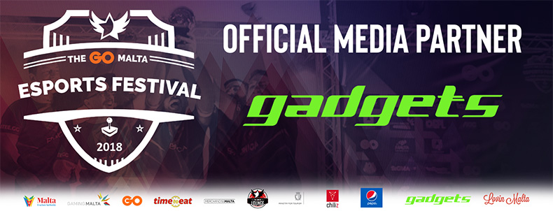 Gadgets - An Official Media Partner for The GO Malta Esports Festival 2018!
