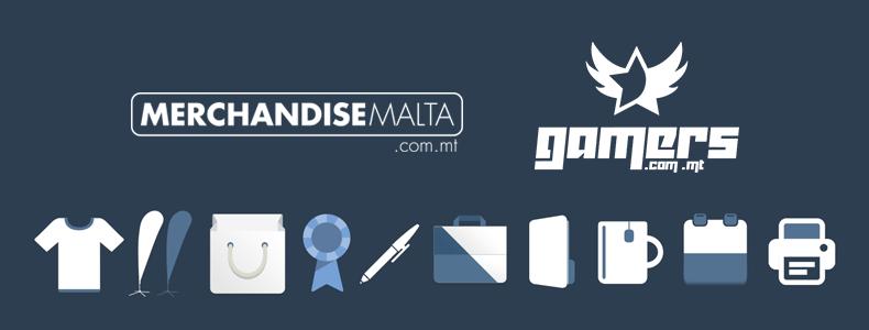 Gamers.com.mt Partnering with Merchandise Malta!
