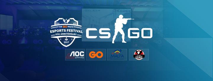 CS:GO at the The GO Malta eSports Festival 2017
