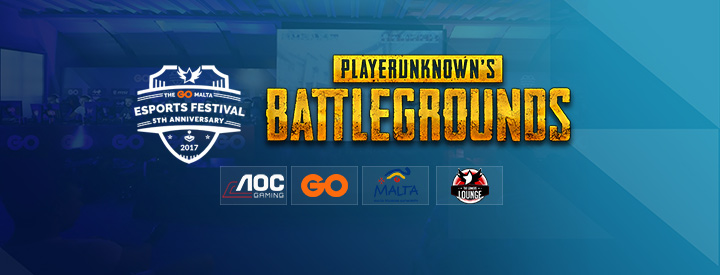 PUBG at The GO Malta eSports Festival 2017