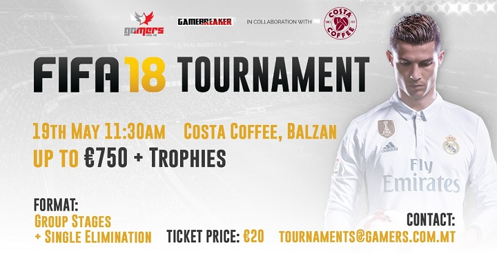 FIFA 18 PS4 Tournament in aid of the Costa Foundation