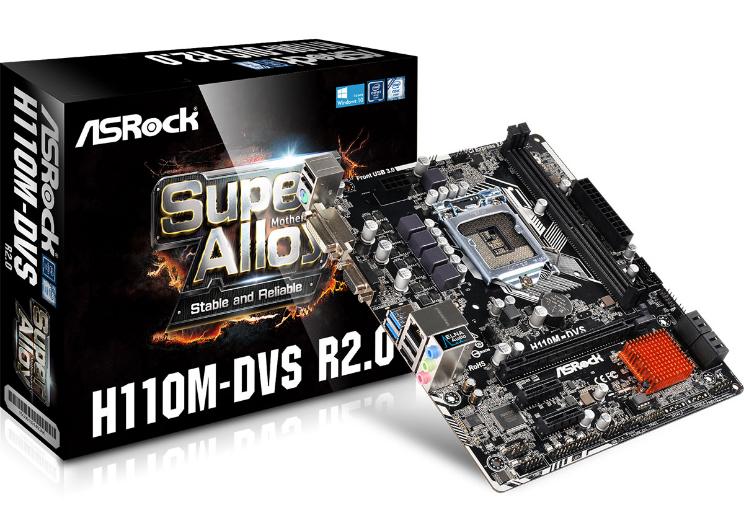 Asrock H110M-DVS R2.0 Motherboard