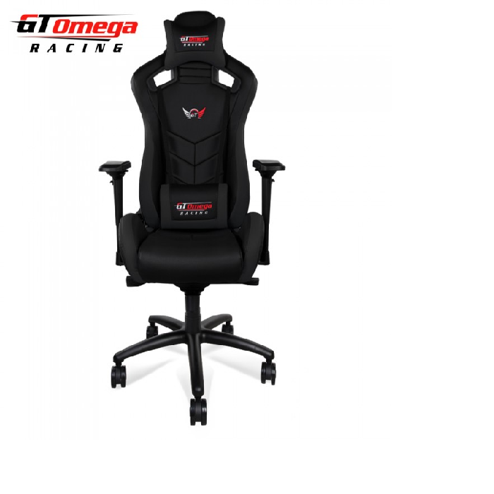 GT Omega Sport Racing Office Chair Black Leat